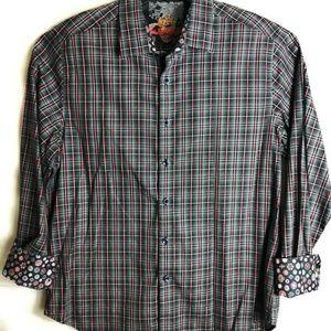 ROBERT GRAHAM Mens Flip Cuff Shirt SIZE XL A17